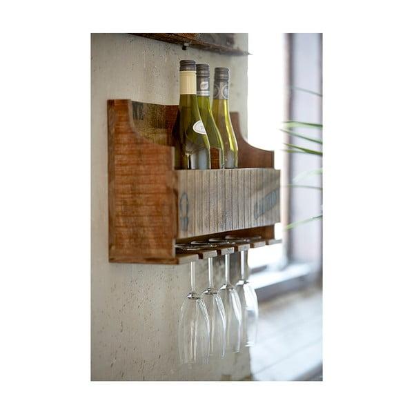 Stojan na skleničky a lahve vína Factory
