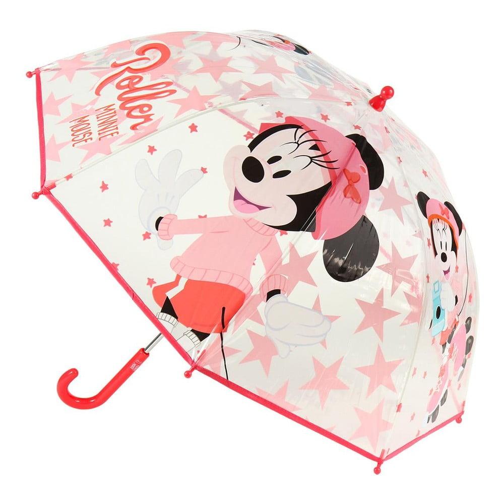 Transparentní dětský deštník Ambiance Minnie, ⌀71cm