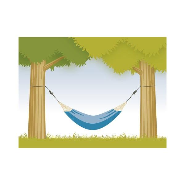 Systém na uchycení houpací sítě mezi stromy