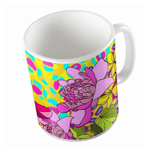 Keramický hrnek Leopard In Flowers, 330 ml