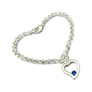 Náramek s modrými krystaly Swarovski Elements Crystals Heart