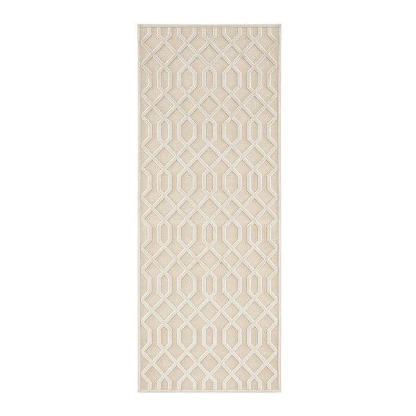 Covor Mint Rugs Shine Mero, 80 x 250 cm, crem