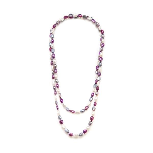 Barevný perlový náhrdelník GemSeller Polygala