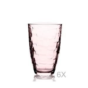 Sada 6 oranžových sklenic Paşabahçe, 265 ml