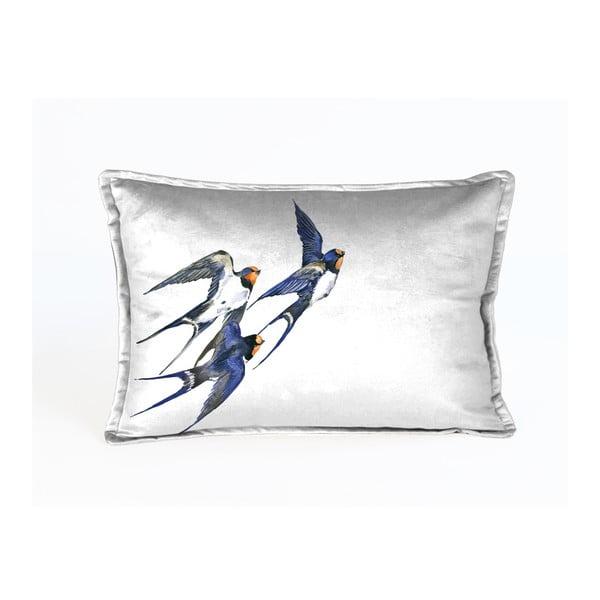 Dekorativní povlak na polštář Velvet Atelier Birdies, 50 x 35 cm