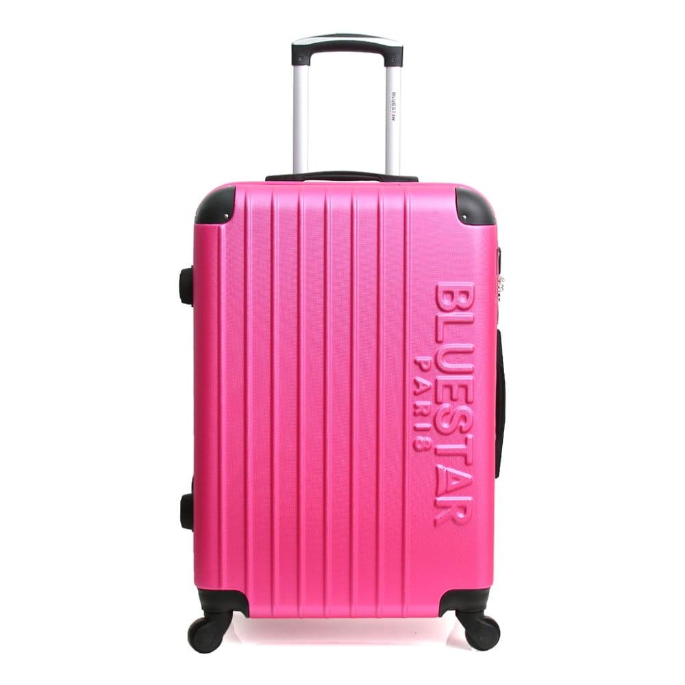 Růžový cestovní kufr na kolečkách Blue Star Bucarest, 57 l