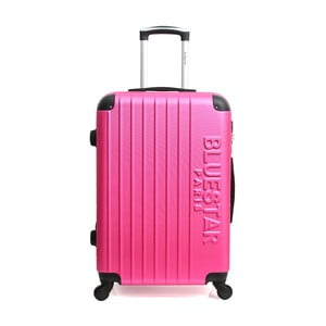 Růžový cestovní kufr na kolečkách Blue Star Bucarest, 93l