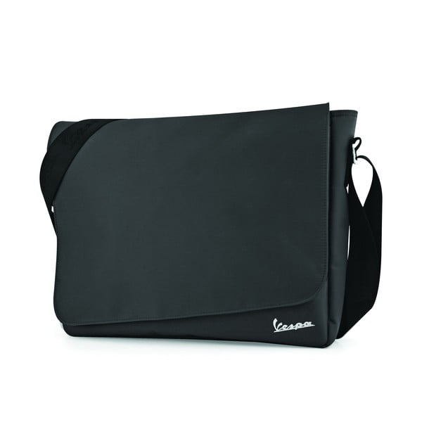 Taška přes rameno Vespa Messenger Black