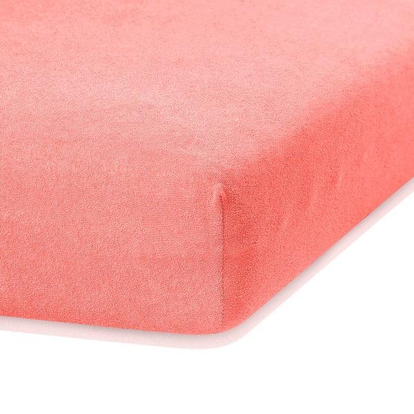 Cearceaf elastic AmeliaHome Ruby, 200 x 100-120 cm, roz corai