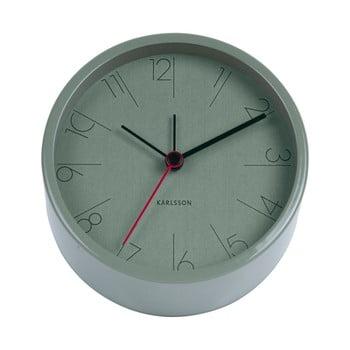 Ceas alarmă Karlsson Numbers, ø 11 cm, verde de la Karlsson