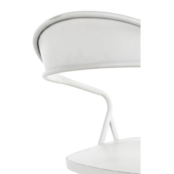 Bílé kovové křeslo Geese Industrial Style Puro