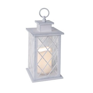 Lucerna s LED žárovkou, bílá