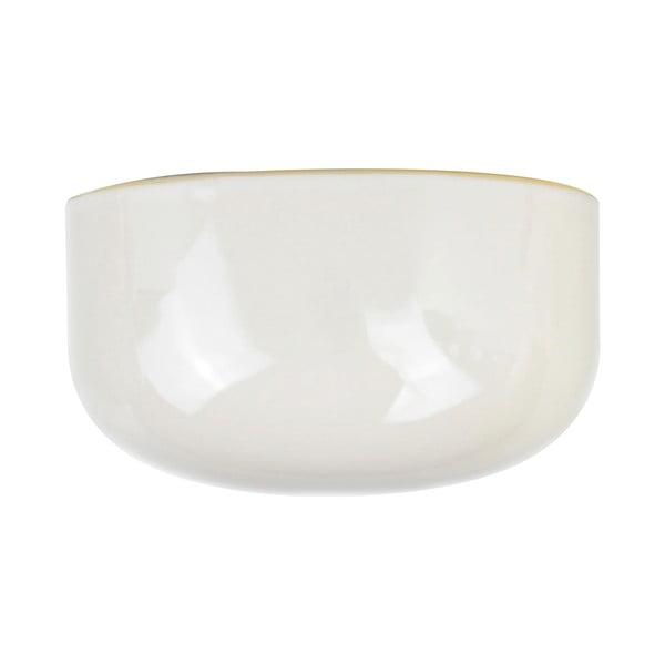 Biała doniczka ścienna PT LIVING Oval, 20x10,8 cm