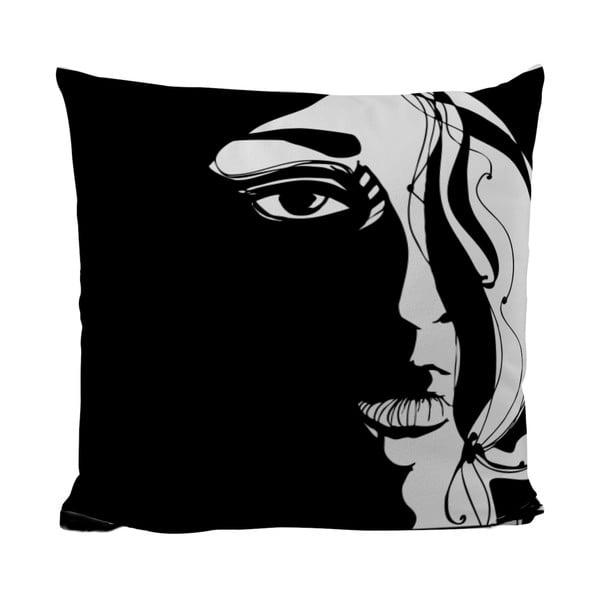 Polštářek Black Shake Unknown Woman, 40x40 cm