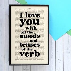 Poster cu ramă din lemn Dracula All The Moods