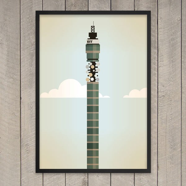 Plakát BT Tower, 29,7x42 cm