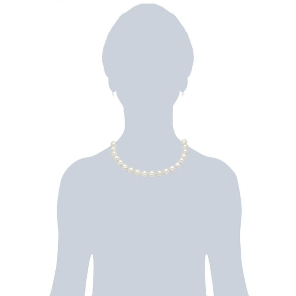 Náhrdelník s bílými perlami ⌀12 mm Perldesse Muschel, délka 45 cm
