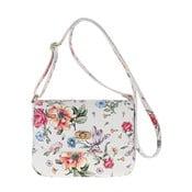 Bílá kožená kabelka s květinovým vzorem Pitti Bags Neva
