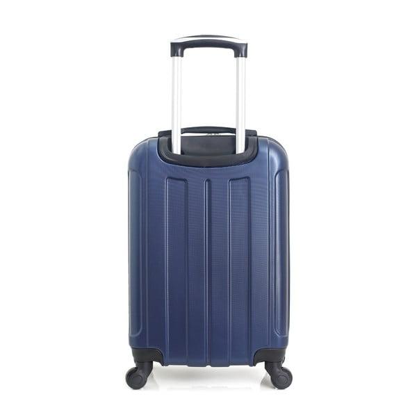 Modrý cestovní kufr na kolečkách Hero Fogo, 36 l