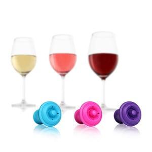 Vakuové uzávěry na víno 6 ks, barevné