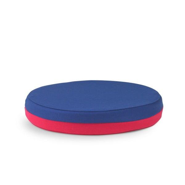 Obsoutranný sedací polštář Otto, modrý/růžový