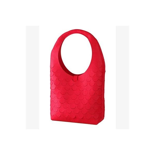 Plstěná kabelka, červená