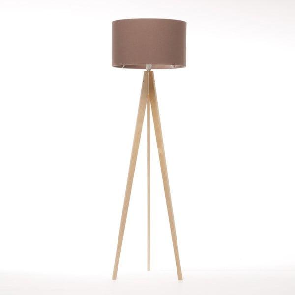 Hnědá volně stojící lampa 4room Artista, přírodní bříza, 150 cm