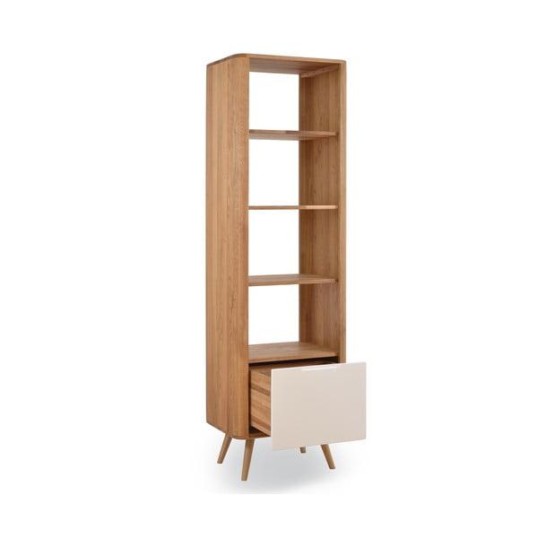 Knihovna z dubového dřeva Gazzda Ena, 60x42x196cm