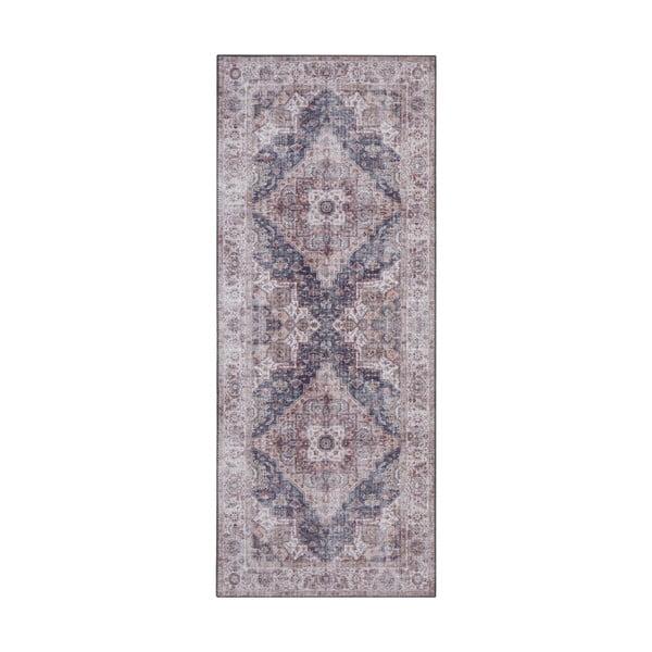 Šedo-béžový koberec Nouristan Sylla, 80 x 200 cm