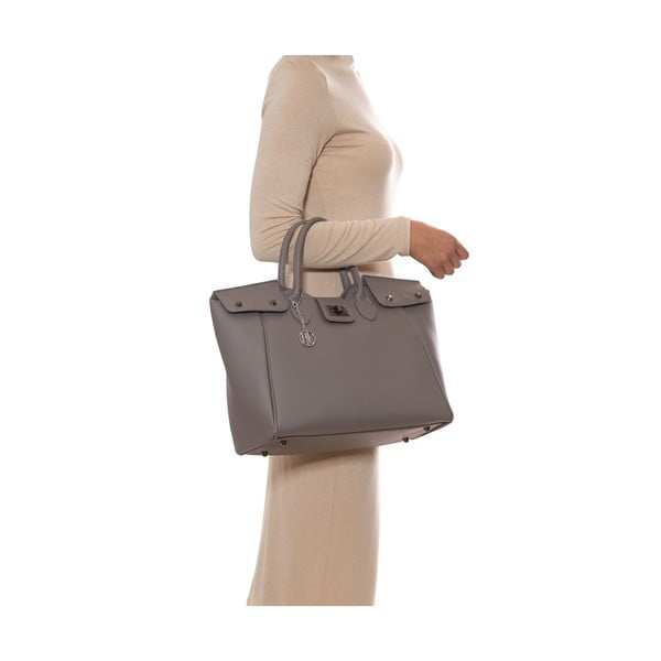 Kožená kabelka Anna Luchini 1134 Fango