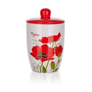 Dóza Red Poppies, 600 ml