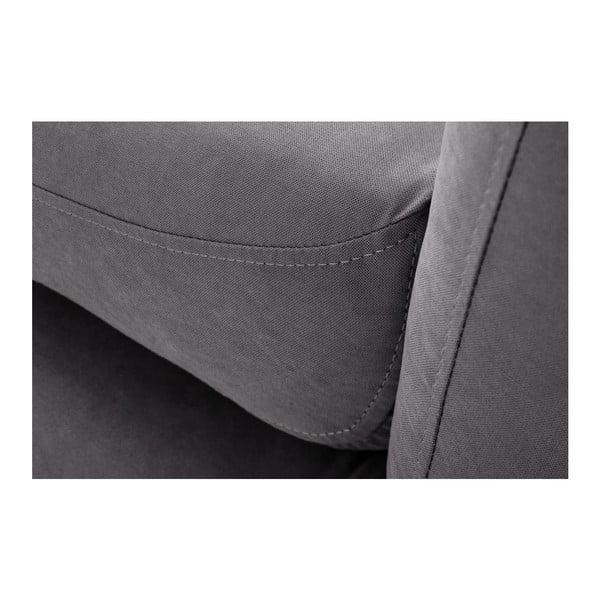 Tmavě šedá pohovka Stella Grand s lenoškou na pravé straně