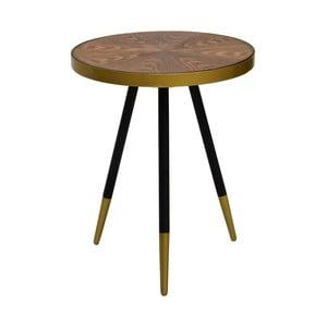 Konferenční stolek s deskou z ořechového dřeva RGE Facett, výška 55 cm