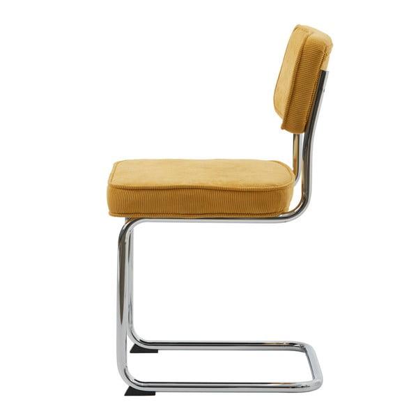 Žlutá jídelní židle Unique Furniture Rupert Bauhaus