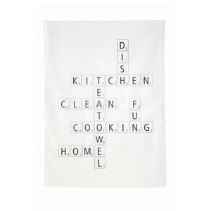 Kuchyňská utěrka Scrabble, 50x70 cm