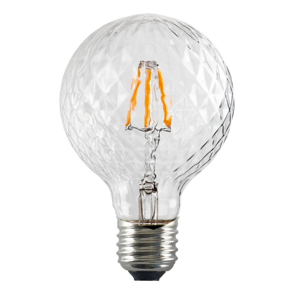 LED žárovka Bulb Attack GLOBE Clear Crystal Linear, E27 5,5 W