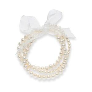 Perlový náramek Nova Pearls Copenhagen Clarice, délka 19 cm