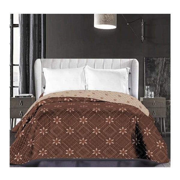 Hypnosis Snowynight bézs-barna kétoldalú mikroszálas ágytakaró, 220 x 240 cm - DecoKing