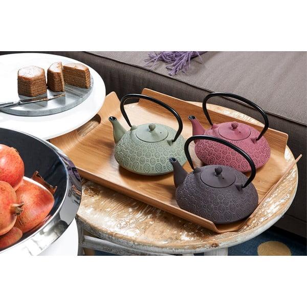 Růžoválitinová konvice se sítkem na sypaný čaj Bredemeijer Yinan, 1,2 l