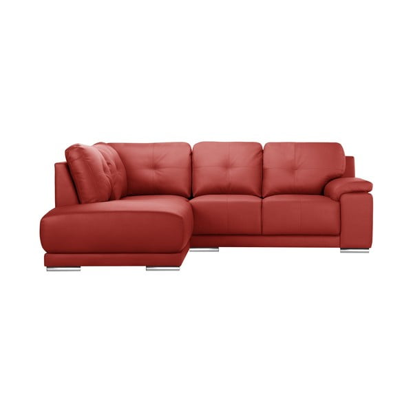 Czerwona sofa narożna Corinne Cobson Home Babyface, lewostronna