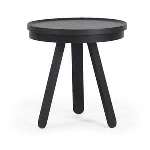 Černý odkládací stolek s podnosem Woodendot Batea S