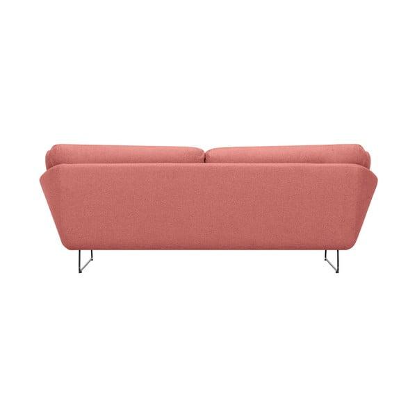 Set růžové třímístné pohovky a sedacího pufu Windsor & Co Sofas Comet
