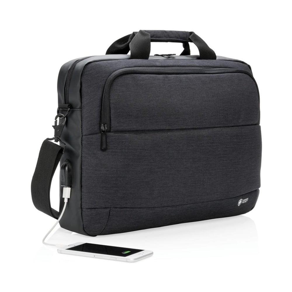 Taška na notebook s USB portem Swiss Peak fde6fa0b23