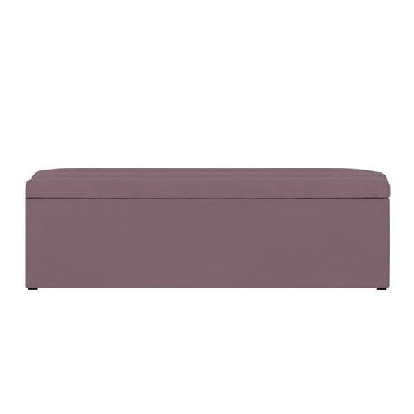 Fialová lavice s úložným prostorem Cosmopolitan Design Los Angeles, šířka 140cm