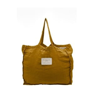Látková taška Linen Couture Mustard, šířka 50 cm