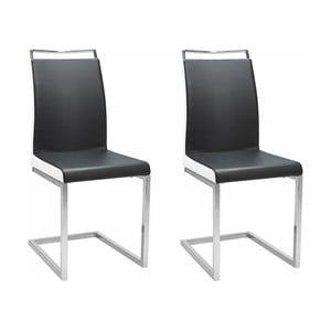 Sada 2 černých židlí Støraa Stark