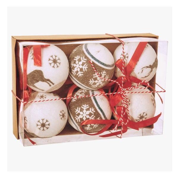 Sada 6 vánočních ozdob Unimasa