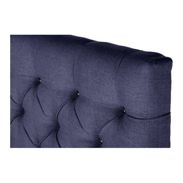 Tmavě modrá postel s matrací Stella Cadente Venus Forme, 140x200 cm