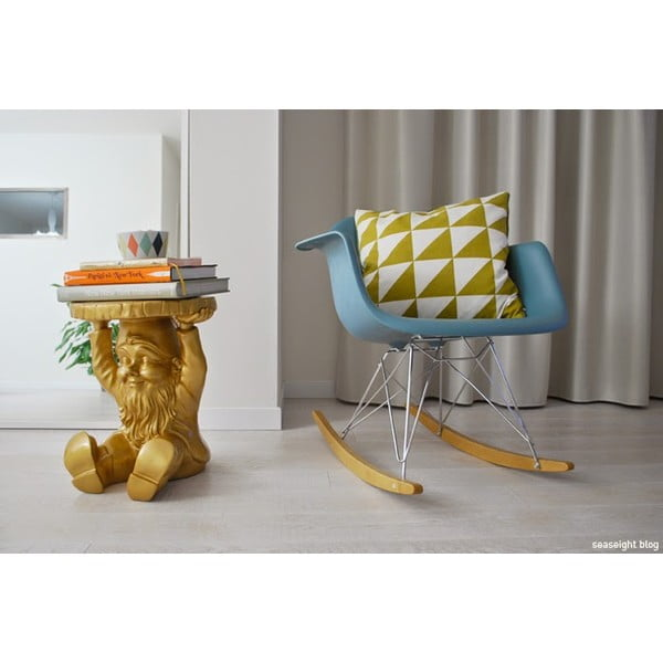Taburetka/odkládací stolek Trpaslík Napoleon, zlatá