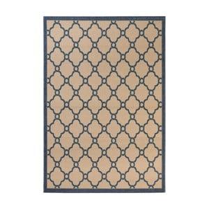 Béžovo-modrý koberec vhodný do exteriéru Veranda Berry, 230 x 160 cm